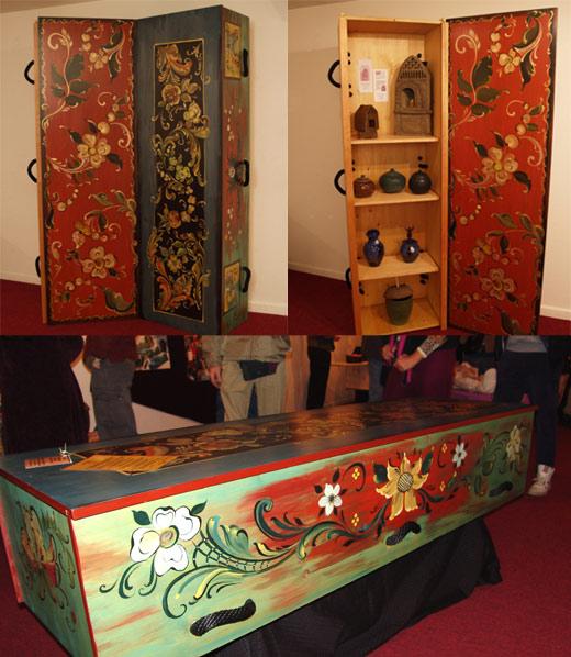 wood casket decoration ideas